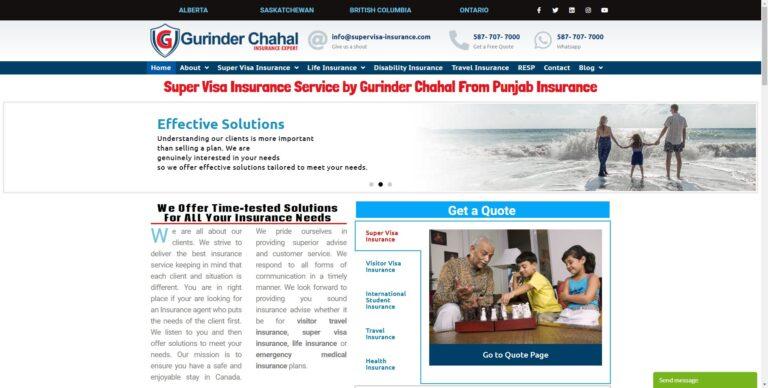 Super Visa Insurance Website