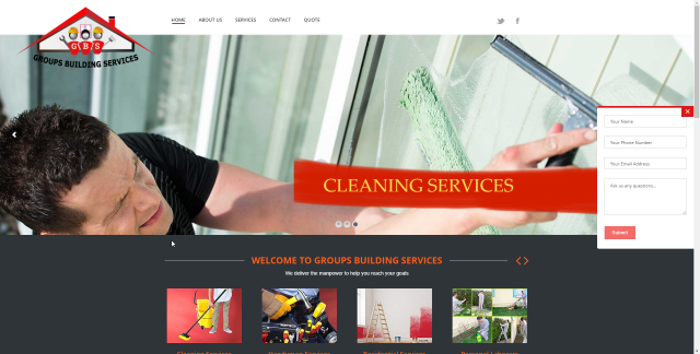 Groups Building Services Website