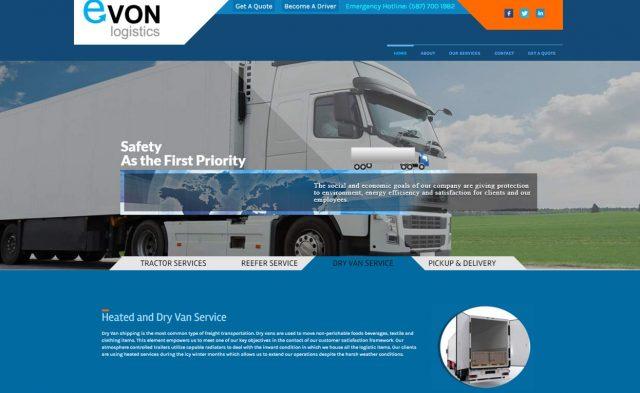 Evon Logistics Website