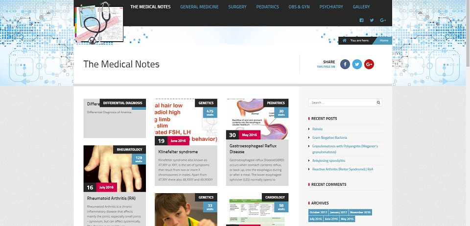 The Medical Notes | Triiliard Bytes Webdesign Solutions